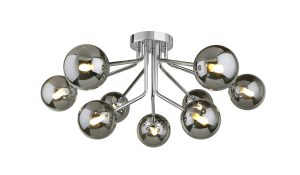 NLCB - Kugel 9 Light Semi Flush Smoked Glass