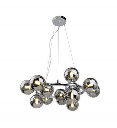NLCB - Kugel 15 Light Round Pendant Smoked Glass