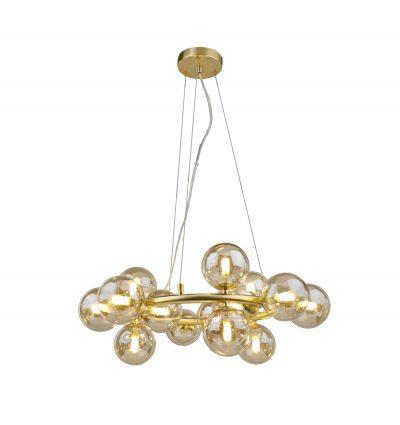 NLCB - Kugel 15 Light Round Pendant Cognac Glass