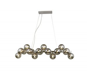 NLCB - Kugel 19 Light Bar Pendant Smoked Glass