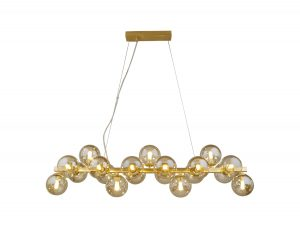 NLCB - Kugel 19 Light Bar Pendant Cognac Glass