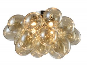 NLCB - Folla 4 Light Semi Flush Cognac Glass