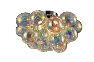 NLCB - Folla 4 Light Semi Flush Iridescent Glass
