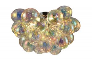 NLCB - Folla 6 Light Semi Flush Iridescent Glass