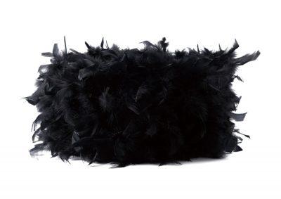 Diyas ILS10626 Arqus Feather Shade Black 410mm x 200mm