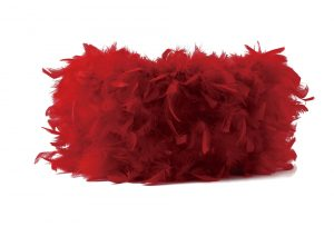 Diyas ILS10632 Arqus Feather Shade Red 410mm x 200mm