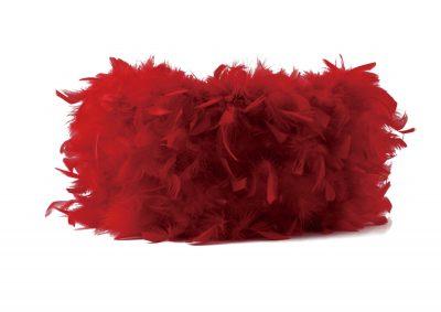 Diyas ILS10632 Arqus Feather Shade Red 410mm x 200mm