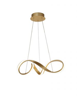 Bronson Small Pendant, 30W LED, 3000K, 1800lm, Sand Gold, 3yrs Warranty