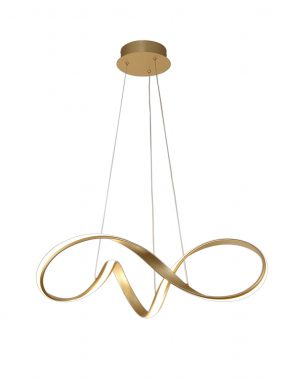 Bronson Medium Pendant, 39W LED, 3000K, 2152lm, Sand Gold, 3yrs Warranty