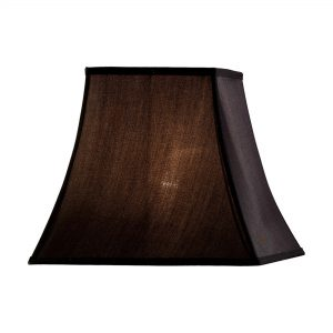 Diyas ILS20244 Contessa Square Shade Black 190/355mm x 300mm