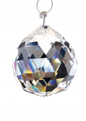Diyas C10040 Crystal Sphere Without Ring Clear 40mm