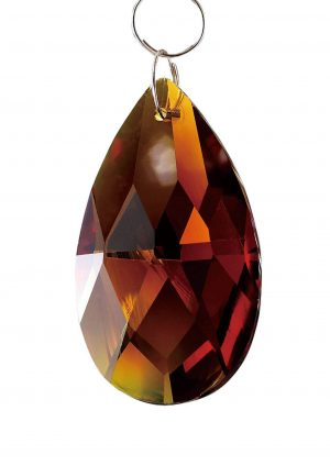 Diyas C20033 Crystal Pendalogue Without Ring Amber 38mm