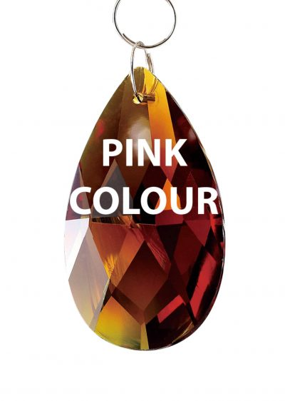 Diyas C20037 Crystal Pendalogue Without Ring Pink 38mm