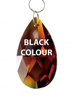 Diyas C20052 Crystal Pendalogue Without Ring Black 50mm