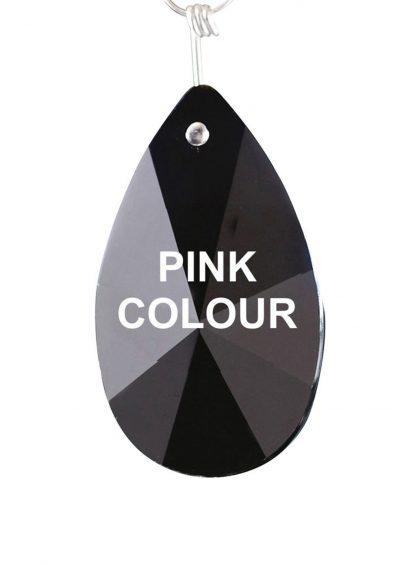 Diyas C20137 Crystal Star Pendalogue Without Ring Pink 38mm