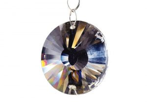 Diyas C40050 Crystal Disc Without Ring Sun Clear 45mm 2 Holes