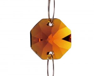 Diyas C50002 Crystal Octagon Without Ring Black 14mm