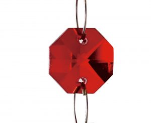 Diyas C50005 Crystal Octagon Without Ring Red 14mm