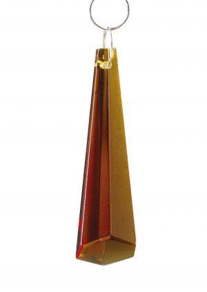 Diyas C70033 Crystal Hexagonal Drop Without Ring Amber 62mm