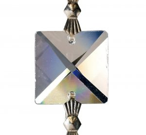 Diyas C70040 Crystal Square Without Ring Clear 16mm