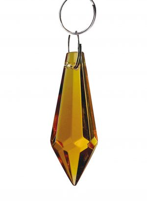 Diyas C70053 Crystal Drop Without Ring Amber 36mm