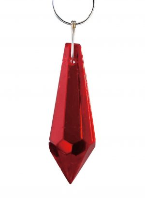 Diyas C70055 Crystal Drop Without Ring Red 36mm