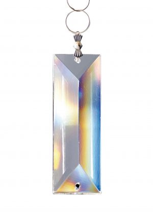 Diyas C70090 Crystal Rectangle Without Ring Clear 62x22mm 2 Holes