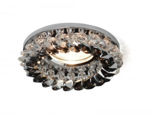Diyas IL30805SM Crystal Cluster Downlight Round Complete Clear/Smoked, IL30800 Required To Complete The Item