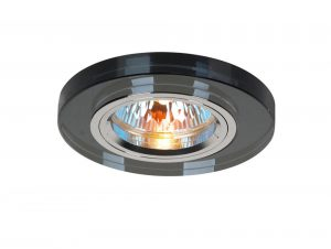 Diyas IL30806BL Crystal Downlight Shallow Round Rim Only Black, IL30800 Required To Complete The Item