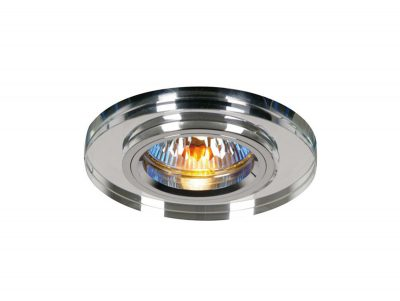 Diyas IL30806CH Crystal Downlight Shallow Round Rim Only Clear, IL30800 Required To Complete The Item