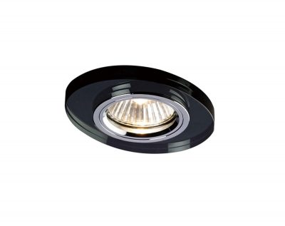 Diyas IL30808BL Crystal Downlight Oval Rim Only Black, IL30800 Required To Complete The Item