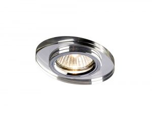 Diyas IL30808CH Crystal Downlight Oval Rim Only Clear, IL30800 Required To Complete The Item