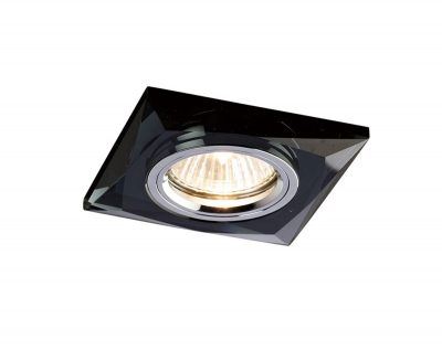 Diyas IL30812BL Crystal Downlight Chamfered Square Rim Only Black, IL30800 Required To Complete The Item