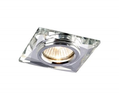 Diyas IL30812CH Crystal Downlight Chamfered Square Rim Only Clear, IL30800 Required To Complete The Item