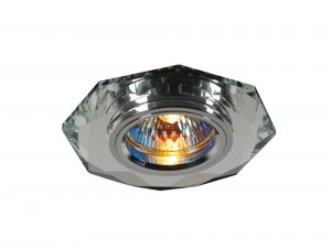Diyas IL30814CH Crystal Downlight Hexagonal Rim Only Clear, IL30800 Required To Complete The Item