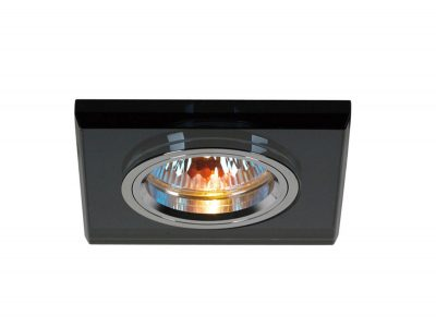 Diyas IL30817BL Crystal Downlight Shallow Square Rim Only Black, IL30800 Required To Complete The Item