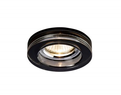 Diyas IL30821BL Crystal Downlight Deep Round Rim Only Black, IL30800 Required To Complete The Item