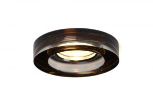 Diyas IL30821BZ Crystal Downlight Deep Round Rim Only Bronze, IL30800 Required To Complete The Item