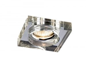 Diyas IL30822CH Crystal Downlight Deep Square Rim Only Clear, IL30800 Required To Complete The Item