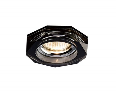 Diyas IL30823BL Crystal Downlight Deep Hexagonal Rim Only Black, IL30800 Required To Complete The Item