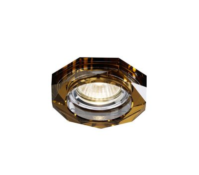 Diyas IL30823BZ Crystal Downlight Deep Hexagonal Rim Only Bronze, IL30800 Required To Complete The Item