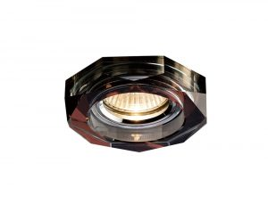 Diyas IL30823PU Crystal Downlight Deep Hexagonal Rim Only Purple, IL30800 Required To Complete The Item