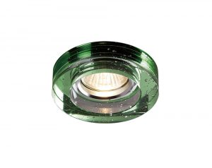 Diyas IL30831GR Crystal Bubble Downlight Round Rim Only Green, IL30800 Required To Complete The Item