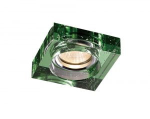 Diyas IL30832GR Crystal Bubble Downlight Square Rim Only Green, IL30800 Required To Complete The Item