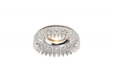 Diyas IL30833CH Crystal Downlight Round With Square Crystals Perimeter Rim Only Clear, IL30800 Required To Complete The Item