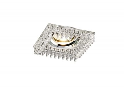 Diyas IL30834CH Crystal Downlight Square With Square Crystals Perimeter Rim Only Clear, IL30800 Required To Complete The Item