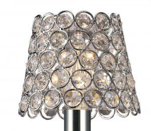 Diyas ILS10701 Clip On Crystal Ring Shade Polished Chrome