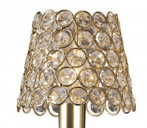Diyas ILS10702 Clip On Crystal Ring Shade French Gold