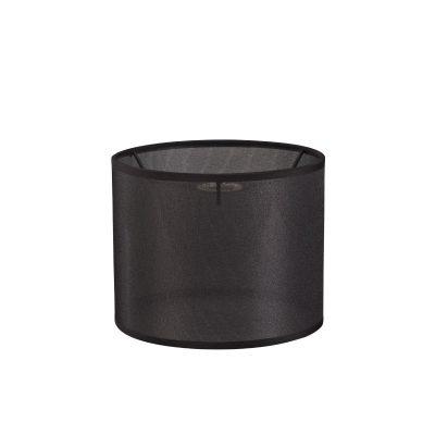 Diyas ILS20287 Curino Round Shade Small Sheer Weave Fabric Black 200 x 160mm