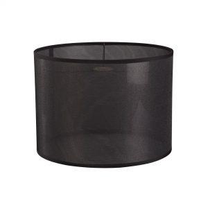 Diyas ILS20289 Curino Round Shade Large Sheer Weave Fabric Black 350mm x 250mm